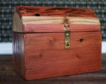 Rustic Redwood Treasure Keepsake Box