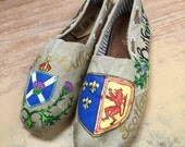 Outlander theme painted shoes.