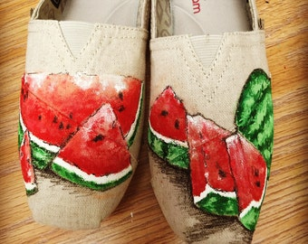 Custom painted shoes.