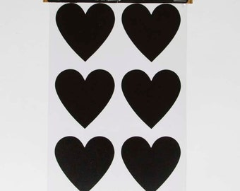 Heart Chalkboard Stickers, Heart Labels, Heart Stickers, Chalkboard Stickers, Labels, Labeling, Wedding Decorations, Hearts, Stationery