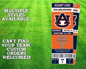 Auburn Tigers Invitation