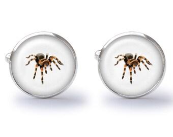 Tarantula Cufflinks - Spider Cufflinks - Arachnid Cuff Links (Pair) Lifetime Guarantee (S0443)