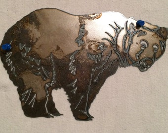 Standing Grizzly Bear Detail Cut