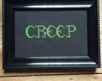 Creep cross stitch.