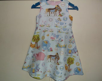 Blue farmyard dress