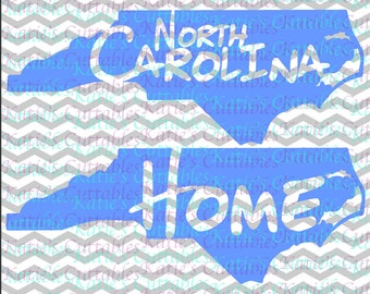 North Carolina Home Name Deign .SVG/.DXF/.EPS and .png Files for EveryVinyl Cutting Machine