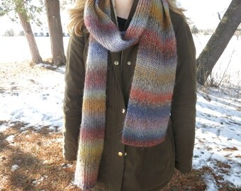 Multi-color Knit Scarf