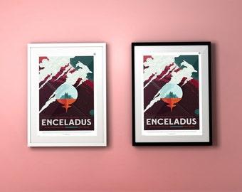 Enceladus JPL Poster