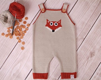 Baby romper suit carrier trousers Fox