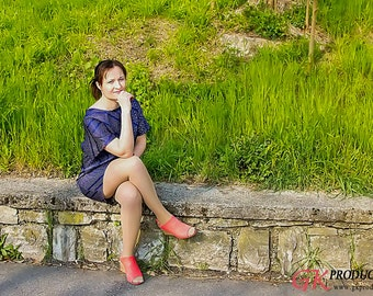 Short silk dress, tunic
