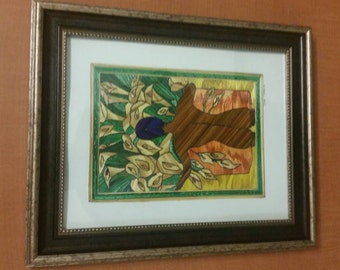Straw paintings