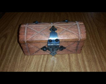 Wooden chest jewelry box