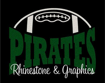 Pirates Football Design Pattern Graphic Design Instant Download EPS SVG DXF  Cutting Files Cameo