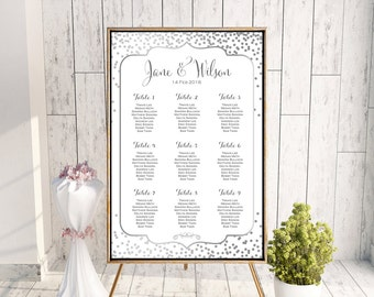 Find your Seat Chart, Printable Wedding Seating Chart, Wedding Seating Poster, Wedding Seating Sign, Wedding Seating Board wd92 WC116