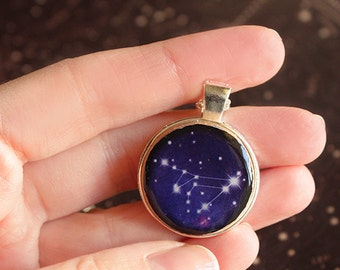 Necklace Zodiac Constellation - Zodiac jewelry - 12 signs - Universe