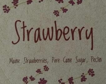 Strawberry Jam, Maine Strawberries, Maine Made, pint