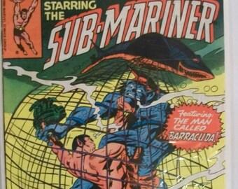 1980  Tales To Astonish Starring The Sub-Mariner #10 Namor Vs Barracuda VG-VF Vintage Marvel Comic Book Reprint Sub-Mariner #10