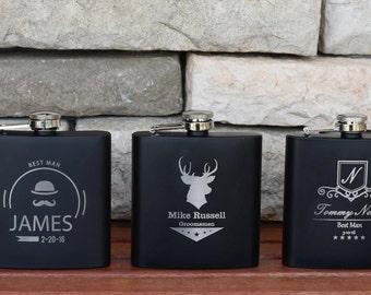 Hip Flask - 10 Personalized Flasks - Groomsmen Favors - Father of the Bride - Flask For Groomsmen - Custom Flask - Groomsman Gift