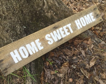 Home Sweet Home sign, pallet sign, reclaimed wood sign