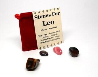 Zodiac Healing Stones Pouch - Leo - Basic