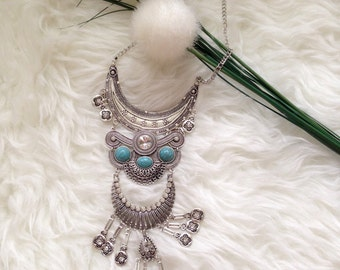 Free shipping !!! Boho Bohemian Inspired Statement Necklace