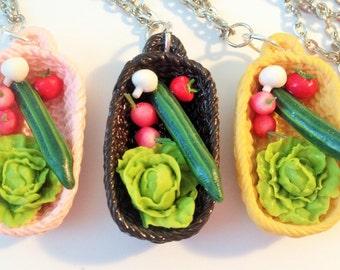 Veggie Basket Necklace