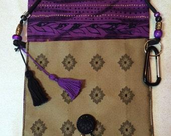 OOAK!! Gold and Purple Messenger Bag
