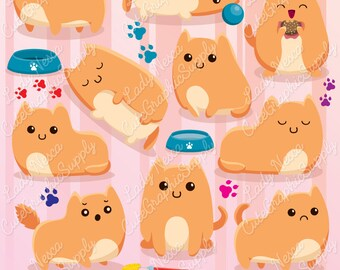 Cats clipart, cute cats, kitties clipart, cats, ginger cat, orange cat, cute clipart -LN0126-
