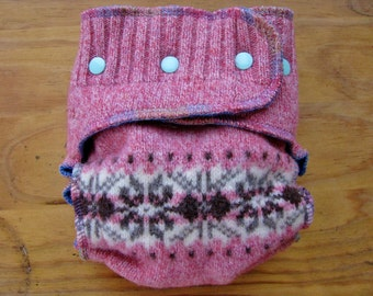 Medium Upcycled Wool diaper Lambswool and Cashmere