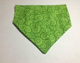 Green Swirls Dog Bandana