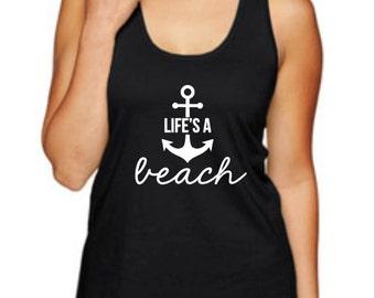 Life's A Beach Racerback Tank