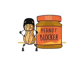 Peanut Blocker pin badge