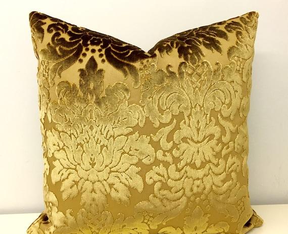 Gold Velvet Pillow Covers Velvet Cushion Gold by artdecopillow