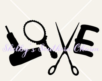 Hair Dresser Love SVG.EPS.DXF files