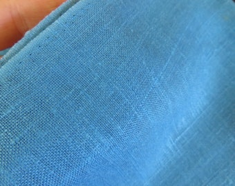 Vintage Aqua Blue Linen/Blend