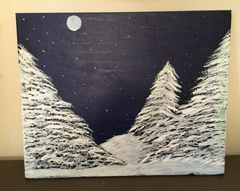 Landscape orientation winter scene
