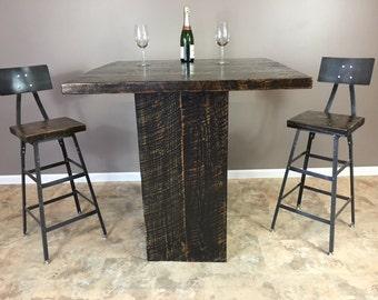 Reclaimed Wood Bar Table, Pub Table, Patio Table, Cafe Table, Reclaimed