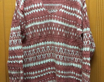 Rare Vintage LL BEAN Freeport Maine Knit Sweater Jumper Made In Usa