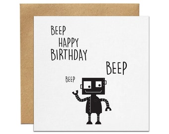 Robot Greeting Card   Made In Australia