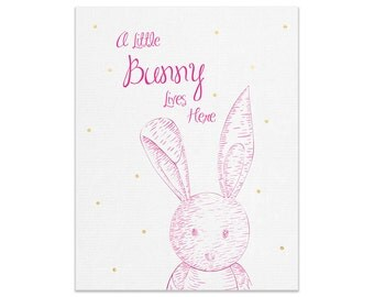 Little Bunny Wall Print | Made In Australia