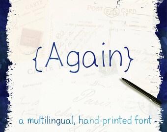 Handmade Font - International Font - Marker Print Font - Latin Font - Scandinavian Font - Multilingual Font - Commercial Use Font - CUOK