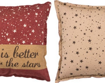 Life is Better Under the Stars Camping Hike Glamper Adventure Camp Lodge Glamping Stars Cabin Arrows Lake River Beach Canvas Throw Pillow
