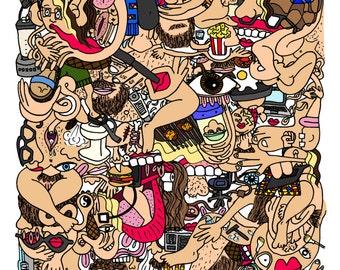 Comic zine- Abstract