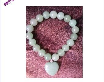 Jade Beads Bracelet, 10mm Jade  Bracelets, Jade Bracelet, Genuine Jade Jewelry Bracelet,Jade Gemstone Beads Bracelet,Gift of Love for Women
