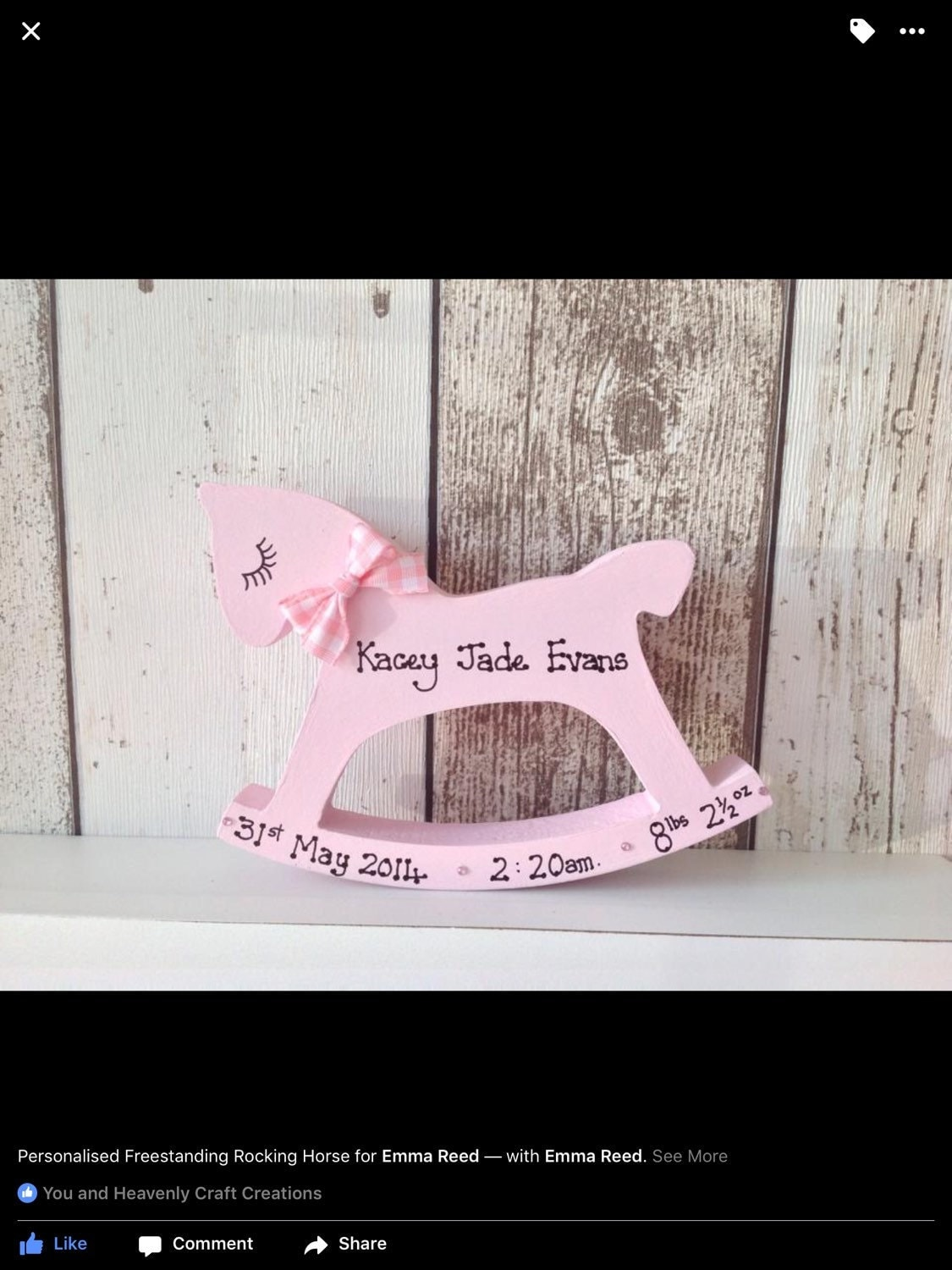 Personalised rocking horse congratulations gift for birth of a personalised rocking horse congratulations gift for birth of a new baby negle Image collections
