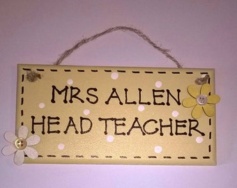 Door plaques, Teacher gifts, signs, door hangings, Teacher plaques