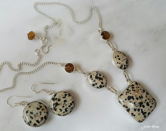 Animal Print Necklace and Earrings Set