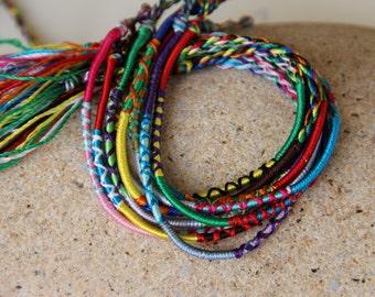 2 cords friendship multicolor silk