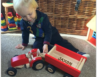 Personalised Large Wooden Tractor