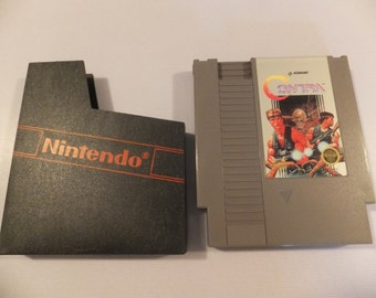 Contra Original NES Nintendo Vintage Video Game Cartridge and Manual